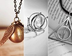 love the time turner and the sign of the hallows- harry poter jewelry
