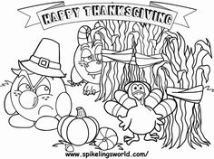 Free Thanksgiving coloring page