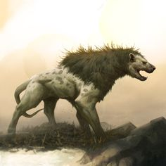 Catoplebas and Chupacabra, Grant Griffin Alien Creatures, Mythical Creatures, Creature Feature, Creature Design, Creature Drawings, Wolf Drawings, Apocalypse Art, Fantasy Beasts, Cool Monsters