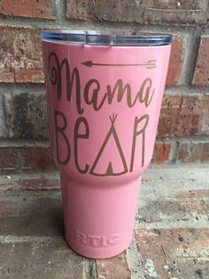 A personal favorite from my Etsy shop https://www.etsy.com/listing/264047014/mama-bear-glitter-decal-mama-bear-vinyl