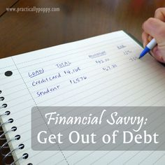 Take the first steps to getting out of debt and taking charge of your financial future!