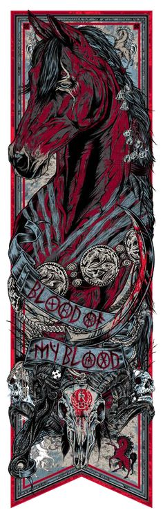 The Geeky Nerfherder: Cool Art: 'Game Of Thrones' Banners Series 2 Wave 1 Prints by Rhys Cooper