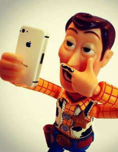 Even Disney characters take selfies.