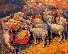 bofransson:  Sheep in the Fold at Périord Nicolas Tarkhoff - 1905