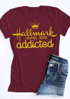Hallmark Channel Movie Addicted T-Shirt Tee Fairyseason - Vinyl Shirt - Ideas of Vinyl Shirt - Hallmark Channel Movie Addicted T-Shirt Tee Fairyseason Hallmark Channel, Hallmark Weihnachtsfilme, Hallmark Christmas Movies, Hallmark Movies, Funny Shirts, Cool T Shirts, Christmas Shirts, Christmas Humor, Christmas 2019
