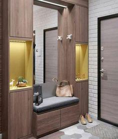 Small Interior Doors – Home Interior Decor Interior Design Living Room, Modern Interior, Living Room Designs, Interior Doors, Shoe Cabinet Design, Home Entrance Decor, Home Decor, Entrance Hall, Flur Design