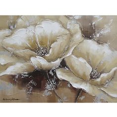 """Yosemite Home Decor 24 in. x 31 in. """"Full Bloom I"""" Hand Painted Canvas Wall Art, Multi 24 in. x 31 in. """"Full Bloom I"""" Hand Painted Canvas Wall Art Hand Painted Canvas, Canvas Wall Art, Arte Floral, Floral Motif, Abstract Flowers, Painting Inspiration, Flower Art, Original Paintings, Oil Paintings"""