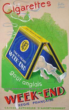 Hella Arno 1925 Cigarette Week End 98X149 Maquette Originale | Flickr - Photo Sharing!