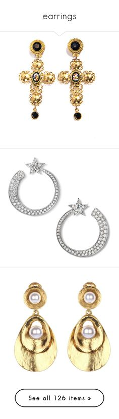 """earrings"" by qazx ❤ liked on Polyvore featuring jewelry, earrings, jewels, floral jewelry, earrings jewellery, filigree jewelry, clip earrings, dolce gabbana earrings, chanel and white gold diamond earrings"