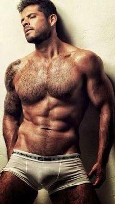 Hairy Hunks, Hairy Men, Bearded Men, Ricki Martin, Hommes Sexy, Moustaches, Raining Men, Hairy Chest, Muscular Men