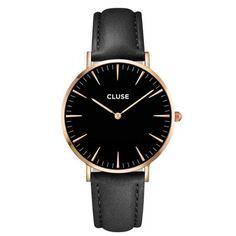 CLUSE La Boheme Rose Gold Black/Black horloge CL18001