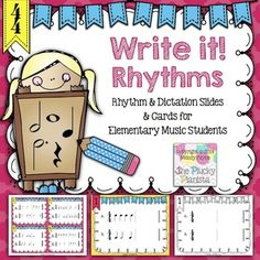 """Write it! Rhythms"" for Elementary Music Students {Rhythm"