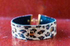 """Neo"" Choker, available online now!!  #noknoklondon #denim #leopardprint #choker #womeansfashion #jewellery"