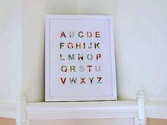 Patchwork Alphabet :: 27 Amazing (and Totally Doable!) DIY Wall Art Projects For Kids' Rooms