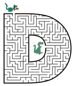 Free printable Maze in the shape of letter D. Kids love mazes, and letter shaped mazes also help with learning the alphabet Mazes For Kids Printable, Dinosaur Printables, Free Printable, Letter Activities, Preschool Activities, Letter Maze, Maze Book, Maze Worksheet, Homeschool Worksheets