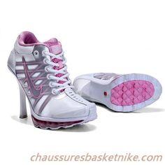 Femmes Nike Air Max 2009 Talons Hauts Blanc Rose