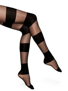 sheer opaque colorblock tights - kate spade new york