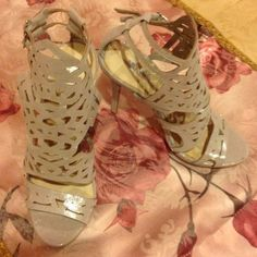 Metallic Heels Brand new, never worn!! Still have stickers attached too!! Shoes Heels