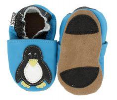 Lauflernschuhe Pinguin von HOBEA-Germany für Babys und Kleinkinder von ca. 0-3 Jahren.  #Babyschuhe #Hausschuhe #Lauflernschuhe #Lederpuschen #Pinguin #HOBEA
