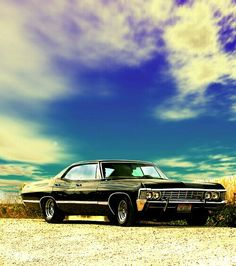 1967 Chevy impala is like the best of the impalas, I just love it haha would take it on road trips to places and have lots of fun, and it's Deans car from Supernatural 1967 Chevy Impala, 67 Impala, Tame Impala, My Dream Car, Dream Cars, Harley Davidson, Supernatural Fandom, Supernatural Impala, Old Classic Cars