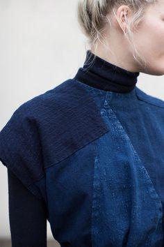 blueberrymodern:    Cosmic Wonder Bingo-Kasuri Dress in Indigo