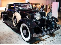 """1932 Lincoln KB LeBaron Convertible Roadster, was Lincoln's first V12 model. Besides its own 14 factory """"custom"""" versions, Ford invited a number of custom coachbuilders, including LeBaron, to supply bodies for this model."""
