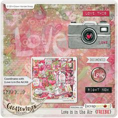 Love Is In The Air freebie from Createwings Designs