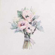 #Misha_illustration#inspiration#illustration#watercolor#aquarelle#art#artist#drawing#painting#flowers#wedding#букетневесты#акварель#цветы#work#love