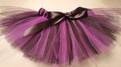 Purple and Black Tutu purple black baby tutu witch by JustTutus