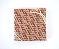 heartic flower gift wrapping paper by asugatic