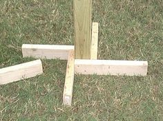 better 2x4 stand on it's own post