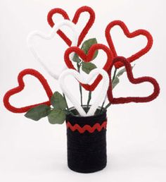 I-cord hearts - pipe cleaners