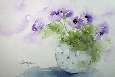 watercolor flower images | Watercolor Paintings by RoseAnn Hayes: March 2012