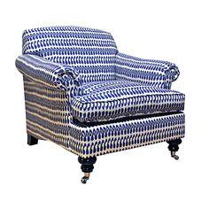 Joplin Chair Blue and White