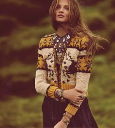 Colours and the fair isle patterns | Free People, November catalogue