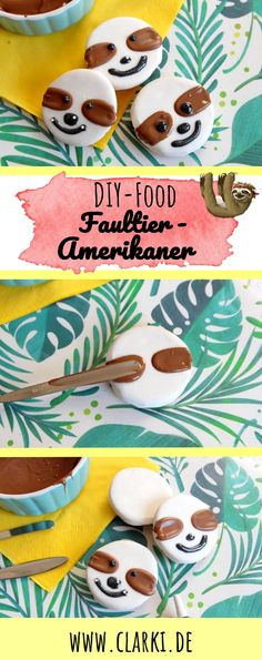 DIY Fun Food: Sloth Americans very easy to make yourself - clarki.de - DIY, Food, Creative Books & (e) Books - DIY Fun Food: Sloth Americans easily make themselves. Without baking and without much effort, we co - Sloth Cakes, Cute Sloth, Pumpkin Spice Cupcakes, Diy Birthday, Birthday Cakes, Diy Food, American Made, Eat Cake, Good Food