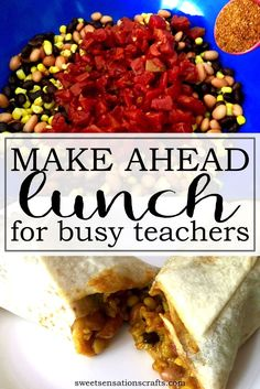 Lunch Recipe for Teachers on-the-go Quick, easy, tasty and budget friendly lunch for teachers - make ahead and freeze. Snacks For Work, Healthy Work Snacks, Lunch Snacks, Easy Snacks, Lunch Recipes, Healthy Eating, Healthy Recipes, Teacher Lunches, Easy School Lunches