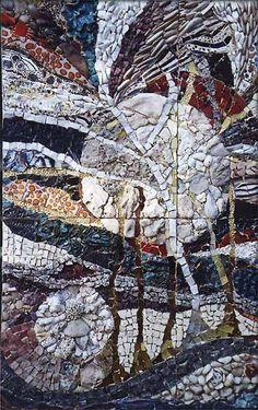 """Ilana Shafir, """"Cosmic Streams"""" #mosaic abstract #mosaicabstracts #mosaicart"""