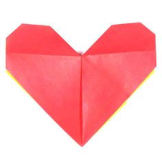 page Instructions to learn how to make an easy origami paper heart. Easy Origami Heart, How To Make Origami, Origami Easy, Origami Paper, Valentines Origami, Diy Valentines Cards, Origami Models, Origami Instructions, Learning