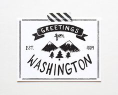 State of Washington Postcard