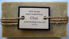 100% Natural Chai Body Soap by PoetryHerbal on Etsy