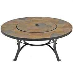 Firepit with lid doubles as table