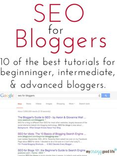 Blogging Tips | How to Blog | 10 SEO tutorials for bloggers - from beginner to advanced tips #blogging Blogging