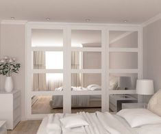 Mirrored Sliding doors wardrobe