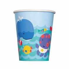 Under the Sea Pals Cup (includes 8 pcs of 9oz paper cups in a pack)
