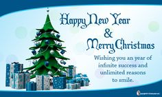 Merry Christmas and New Year Wishes Card....