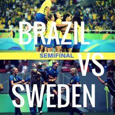 Brazil v Sweden Olympic Football, Football Soccer, Rio 2016, Sweden, Olympics, Brazil, Baseball Cards, Sports, Rio De Janeiro