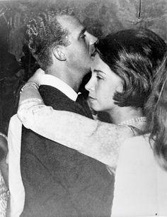Juan Carlos I of Spain-75 Years, 75 Photos. 21-Prince Juan Carlos and Princess Sophia dancing at one of their pre-wedding parties. Athens, 1962.
