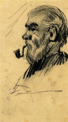 Head of an Old Man - Vincent van Gogh