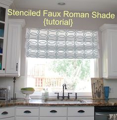 make a Roman Curtain for the window above my kitchen sink.. I just want to let you know that the first version was a total sewing fail.I tried to make it no-sew AND Faux